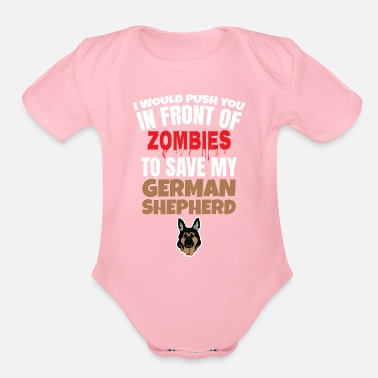 German Shepherd german shepherd - Organic Short Sleeve Baby Bodysuit