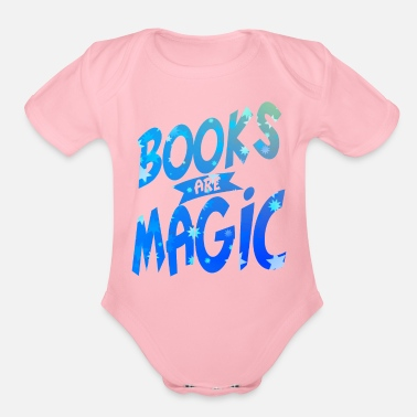 Novel Books fantasy magic novel - Organic Short Sleeve Baby Bodysuit