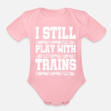 Training train - Organic Short Sleeve Baby Bodysuit