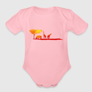 Safari Safari - Organic Short Sleeve Baby Bodysuit