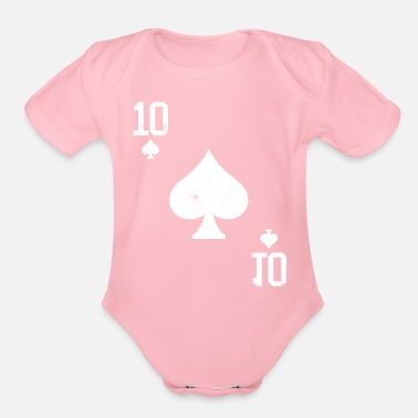 Pik Poker 10 Card Game Pik Vintage - Organic Short-Sleeved Baby Bodysuit