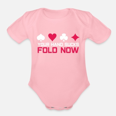 Bluff Poker bluff - Organic Short-Sleeved Baby Bodysuit