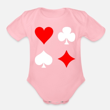 Pik Poker Cross Pik Heart Check - Organic Short Sleeve Baby Bodysuit
