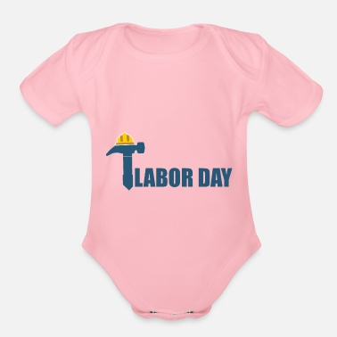 Days Of The Week Labour Day - Day of the week - Organic Short-Sleeved Baby Bodysuit