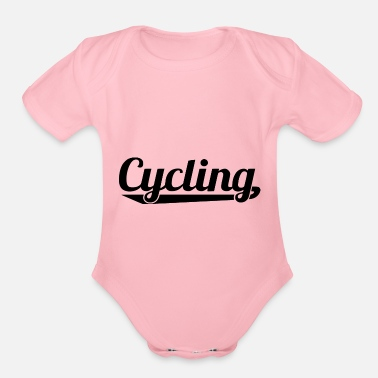 Cycling cycling - Organic Short-Sleeved Baby Bodysuit