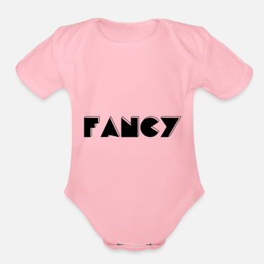 Fancy fancy - Organic Short-Sleeved Baby Bodysuit