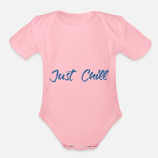 Just Reggae Baby Clothing - Just Chill - Organic Short-Sleeved Baby Bodysuit light pink