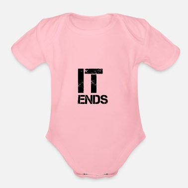 End it ends - Organic Short-Sleeved Baby Bodysuit