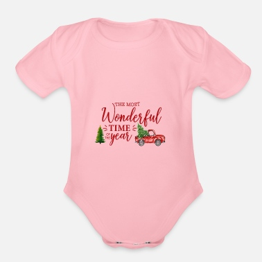 christmas - Organic Short-Sleeved Baby Bodysuit