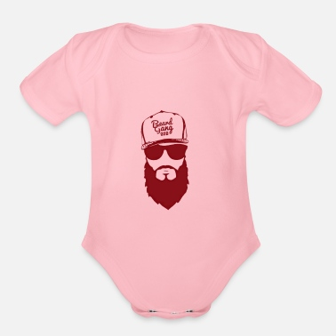 Gangsta Bearded Gang Red | Funny Beard Tank Top - Organic Short Sleeve Baby Bodysuit