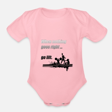 Power Lifting Lift - Organic Short-Sleeved Baby Bodysuit