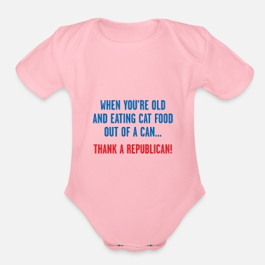 Cat Food DEM CAT FOOD - Organic Short-Sleeved Baby Bodysuit