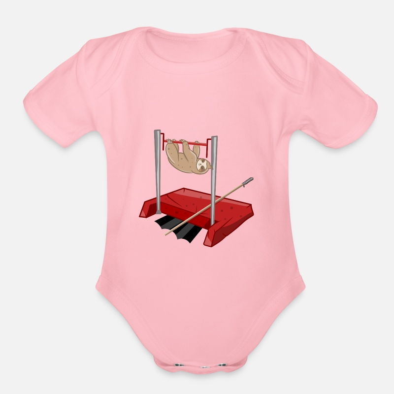 721847ef7 Sloth pole vault Organic Short-Sleeved Baby Bodysuit | Spreadshirt