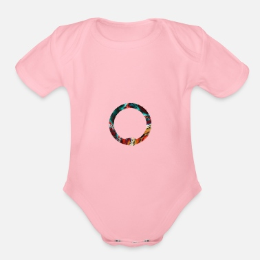 Ouroboros Psychedelic colors - Organic Short-Sleeved Baby Bodysuit