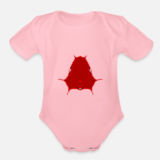 Abstract Baby Clothing - pixelize - Organic Short-Sleeved Baby Bodysuit light pink