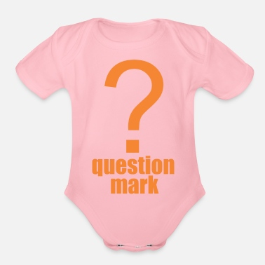 Mark Something question mark - Organic Short Sleeve Baby Bodysuit