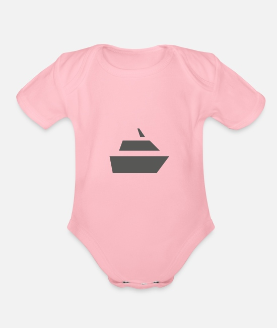 Ship Mechanic Baby One Pieces - Ship - Organic Short-Sleeved Baby Bodysuit light pink