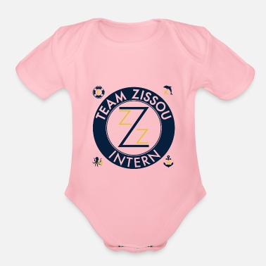 Funny Gym Team Zissou Costume - Organic Short Sleeve Baby Bodysuit