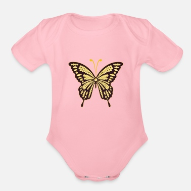 Flip Sequin Butterfly style - Organic Short-Sleeved Baby Bodysuit