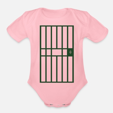 Jail Jail Cell - Organic Short-Sleeved Baby Bodysuit