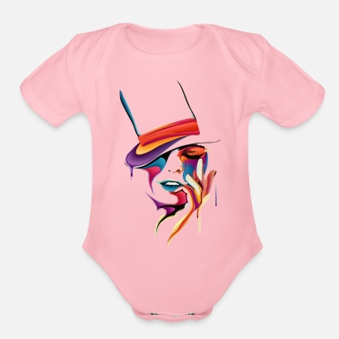 Drawing drawing - Organic Short Sleeve Baby Bodysuit