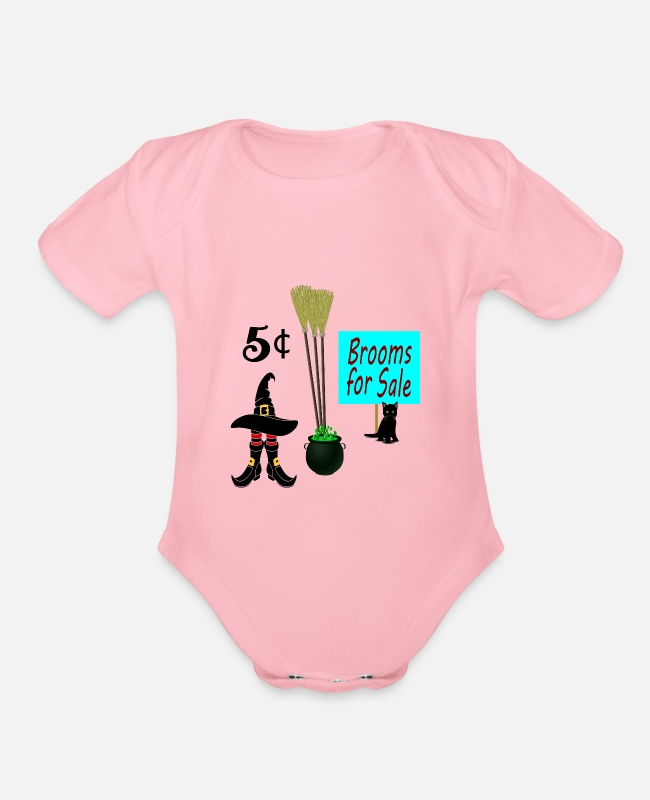 Sale Baby One Pieces - Brooms For Sale - Organic Short-Sleeved Baby Bodysuit light pink