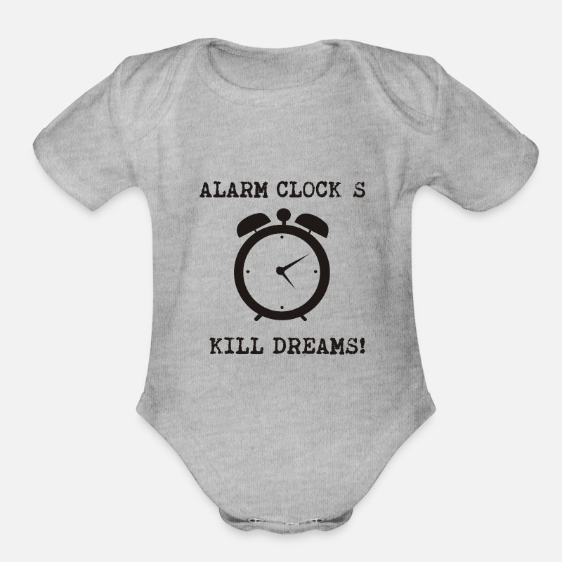 alarm kill dream Organic Short Sleeve Baby Bodysuit - heather gray