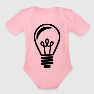 Bulb Light - Organic Short Sleeve Baby Bodysuit