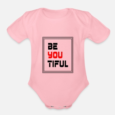 Yourself be yourself - Organic Short Sleeve Baby Bodysuit