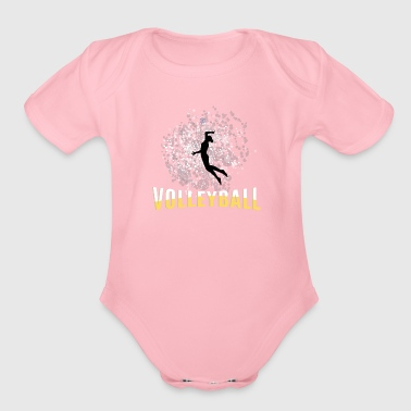 Player Volleyball female player - Organic Short Sleeve Baby Bodysuit