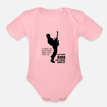 Future Marty Mcfly Rock and Roll Back to the Future - Organic Short-Sleeved Baby Bodysuit