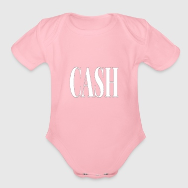 Cash - Organic Short Sleeve Baby Bodysuit