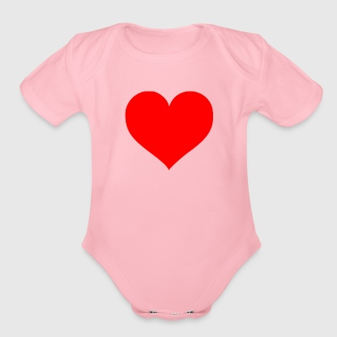 2000px Love Heart SVG svg - Organic Short Sleeve Baby Bodysuit