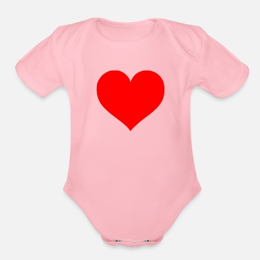 Cuore 2000px Love Heart SVG svg - Organic Short-Sleeved Baby Bodysuit