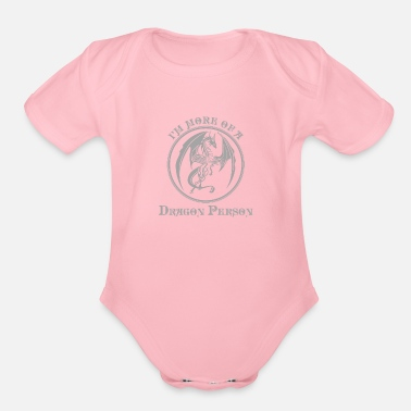 Mythical Creature Dragon Mythical Creature Mythology Gift - Organic Short-Sleeved Baby Bodysuit