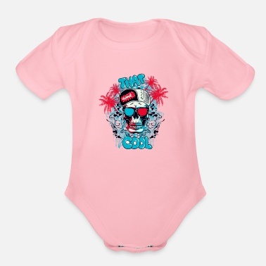 Streetwear T Shirt streetwear skull color vector funny image - Organic Short-Sleeved Baby Bodysuit
