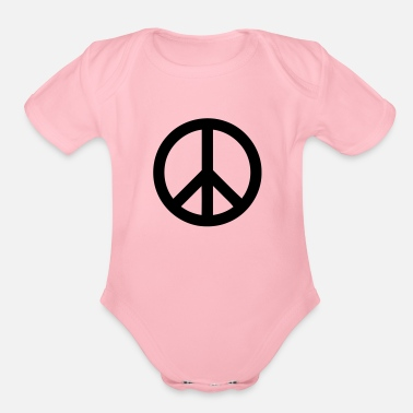 Peace Sign Peace Sign - Organic Short-Sleeved Baby Bodysuit