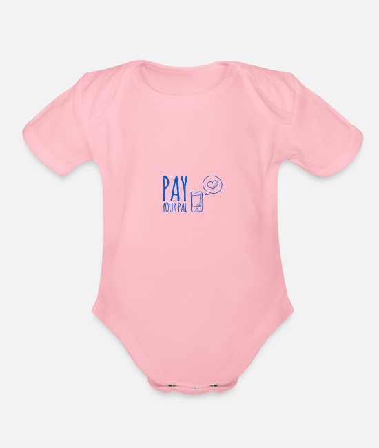 Cash Money Baby Clothing - Pay Your Pal - Organic Short-Sleeved Baby Bodysuit light pink