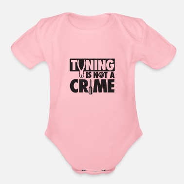 Tuning Tuning is not a crime - Organic Short Sleeve Baby Bodysuit