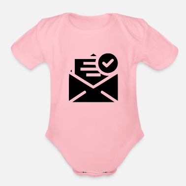Send send - Organic Short Sleeve Baby Bodysuit