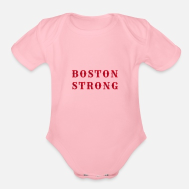 Marathon Boston Strong - Organic Short-Sleeved Baby Bodysuit