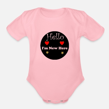 Clothes Hello I'm new here - Organic Short-Sleeved Baby Bodysuit
