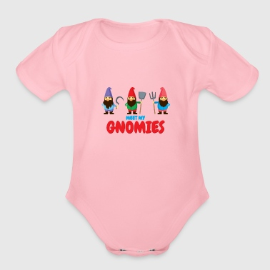 Meet my gnomies - Organic Short Sleeve Baby Bodysuit