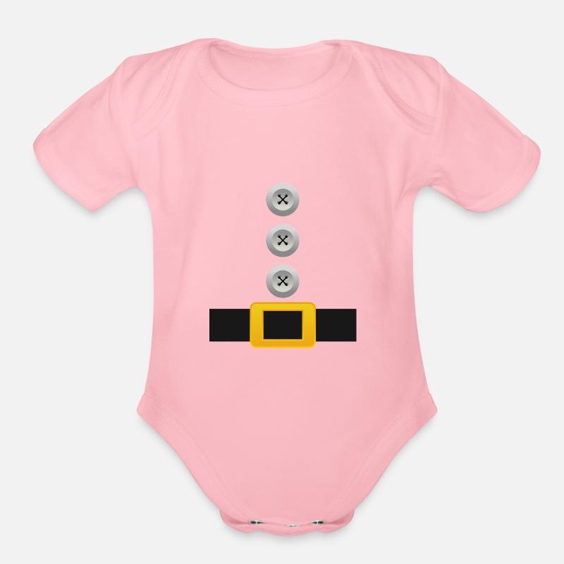 ffa19270216e7 Organic Short-Sleeved Baby BodysuitDwarf Costume T-Shirt Funny Halloween  Santa Gift
