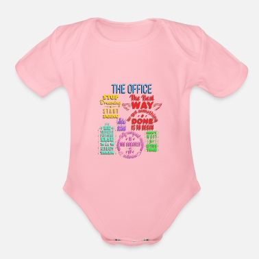 Everyday Office Life Office Sayings Office Humor Office Life Gift Work - Organic Short-Sleeved Baby Bodysuit