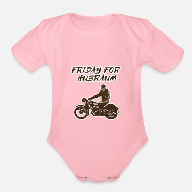 Motorist Friday for displacement | Countermovement motorist - Organic Short-Sleeved Baby Bodysuit