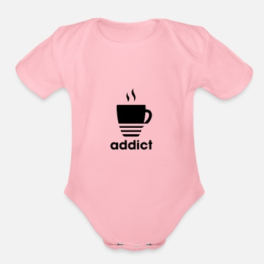 Addicts addict - Organic Short Sleeve Baby Bodysuit