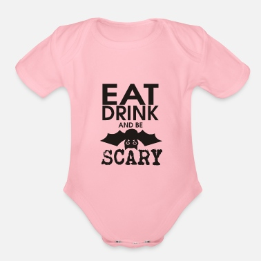 Scary be scary - Organic Short-Sleeved Baby Bodysuit