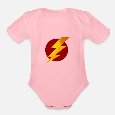 Relâmpago Lightning Bolt - Organic Short-Sleeved Baby Bodysuit