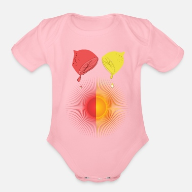Play Of Colors play of colors with lemons and the sun - Organic Short-Sleeved Baby Bodysuit